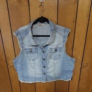 Jean vest cropped